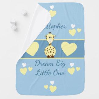 Rêve personnalisé de girafe de couverture de bébé