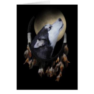 Rêve spirituel de carte de sympathie de chien de