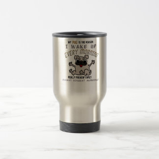 Réveillez le carlin mug de voyage