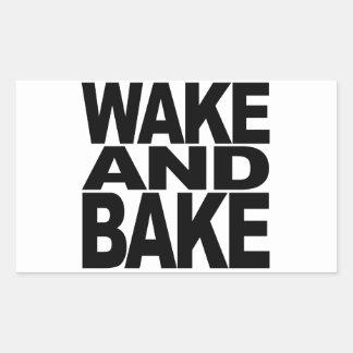 Réveillez-vous et faites cuire au four stickers en rectangle