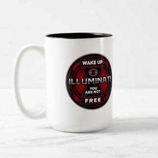 Réveillez-vous ne sont pas Illuminati libre Tasse 2 Couleurs