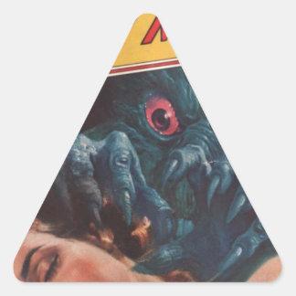 Réveillez-vous ! sticker triangulaire
