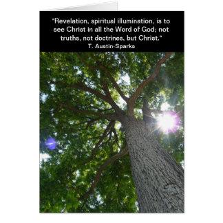 Révélation… Carte pour notes