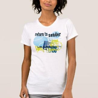 Revenez à la pièce en t de tennis d'expéditeur t-shirt