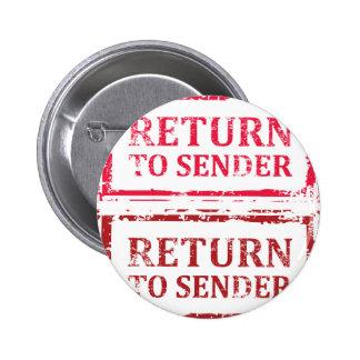 Revenez au timbre grunge d'expéditeur badges
