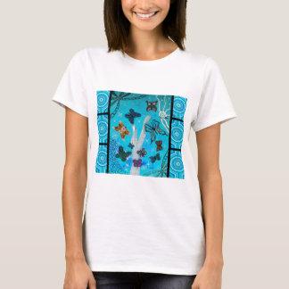 Rêver bleu de papillon t-shirt