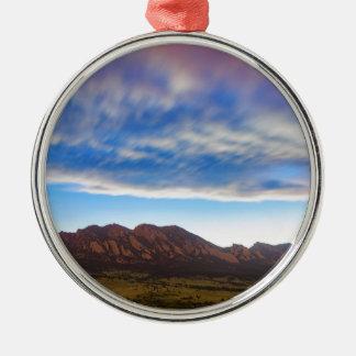 Rêver de Boulder le Colorado Ornement Rond Argenté