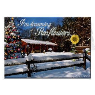 Rêver de la carte de Noël de tournesols