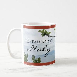 Rêver de la tasse de café de l'Italie
