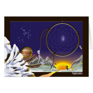Rêver de Sagittaire Carte De Vœux