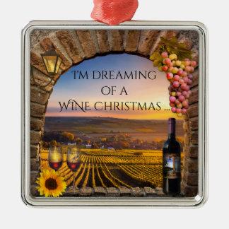 Rêver d'un ornement de Noël de vin