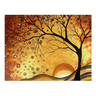Rêver en carte postale d'or