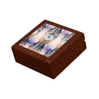 Rêves carrelés petite boîte à bijoux carrée