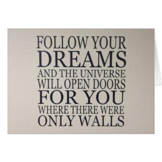 rêves carte de vœux