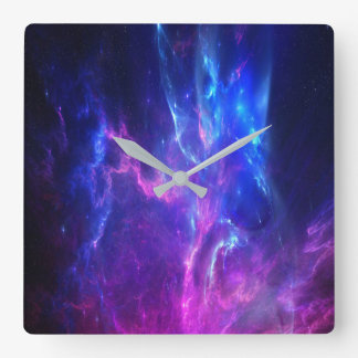 Rêves d'améthyste horloge carrée
