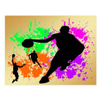 Rêves de basket-ball carte postale