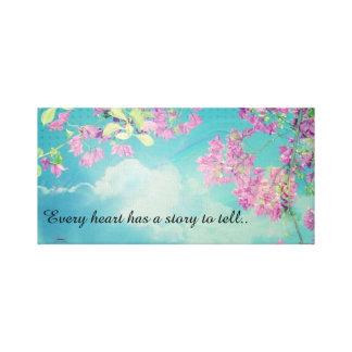 Rêves de ciel bleu et de fleurs de cerisier impression sur toile
