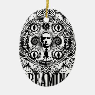 Rêves de Lovecraftian Ornement Ovale En Céramique