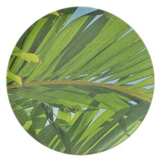 Rêves de palmier assiettes en mélamine