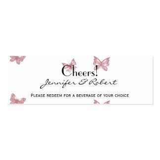 Rêves de papillon : Billets roses poussiéreux de Carte De Visite Petit Format