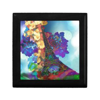 Rêves de Paris des fleurs Petite Boîte À Bijoux Carrée