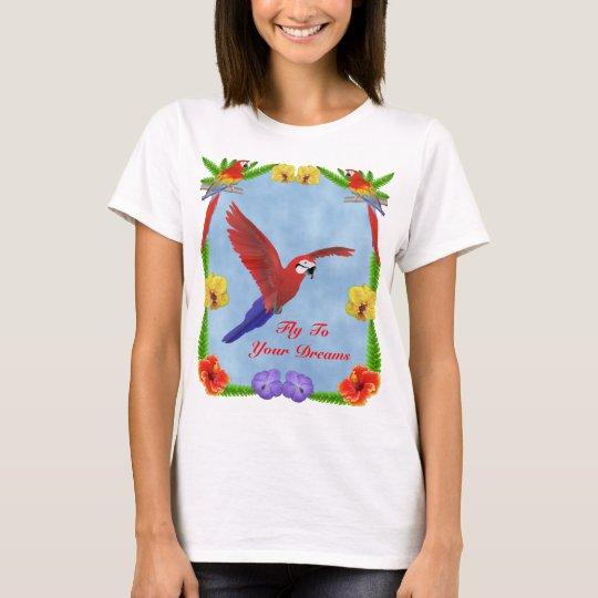 Rêves de ToYour de mouche - ara et fleurs T-shirt