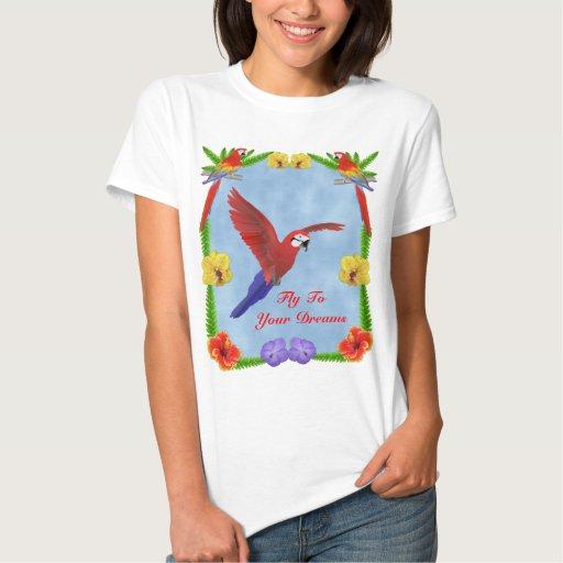 Rêves de ToYour de mouche - ara et fleurs T-shirts