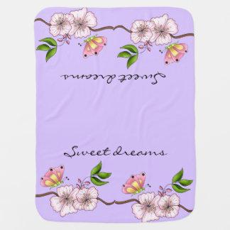 Rêves doux lilas de pays couvertures pour bébé