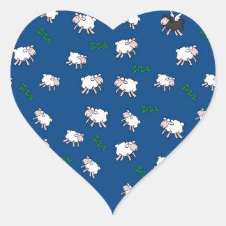 Rêves doux sticker cœur