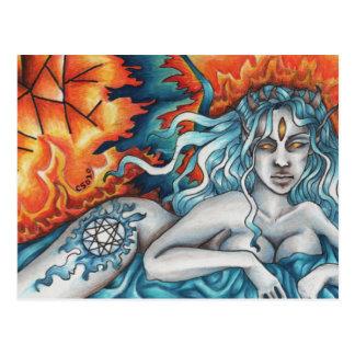 Rêveur de la carte postale éternelle du feu