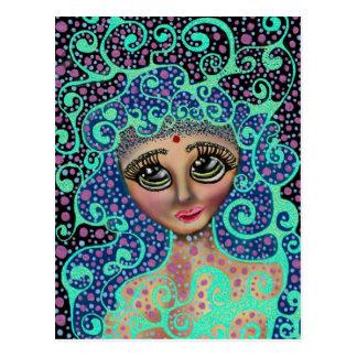 Rêveur psychédélique carte postale