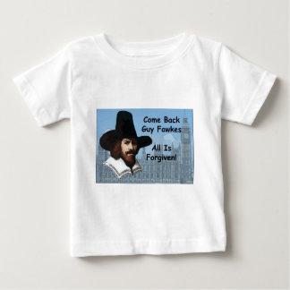 Reviennent Guy Fawkes que tout est pardonné T-shirt Pour Bébé