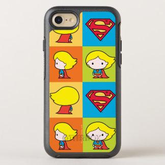 Revirement de caractère de Chibi Supergirl Coque Otterbox Symmetry Pour iPhone 7