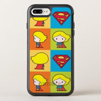 Revirement de caractère de Chibi Supergirl Coque Otterbox Symmetry Pour iPhone 7 Plus