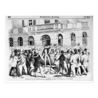 Révolte à Vienne Carte Postale