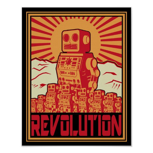 Révolution de robot poster