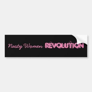 Révolution méchante de femmes autocollant de voiture