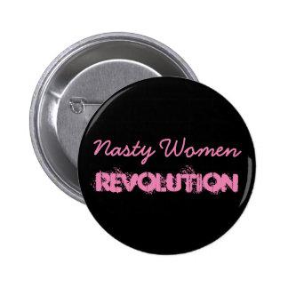 Révolution méchante de femmes pin's