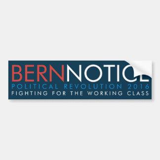 Révolution politique 2016 d'avis de Berne Autocollant De Voiture
