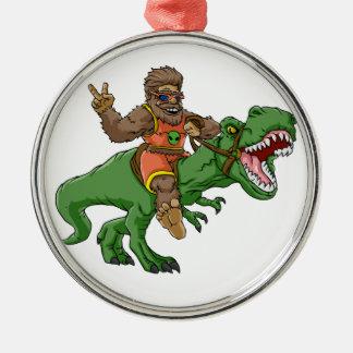 rex Bigfoot de rex-T de la Bigfoot-bande dessinée Ornement Rond Argenté