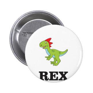 rex Dino d'amusement Badges