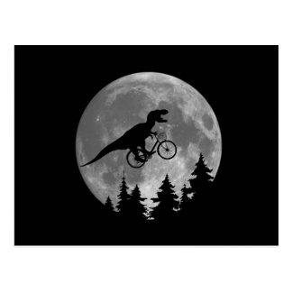 Rex du cycliste t en ciel avec la parodie de la carte postale