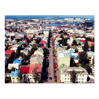 """""""Reyk carte postale couvre"""" - Reykjavik, Islande"""