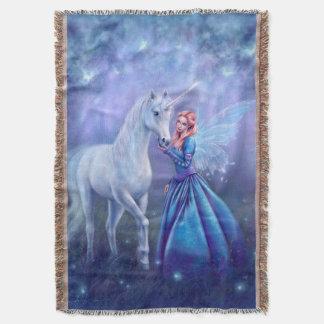 Rhiannon - licorne et couverture de jet d'art de