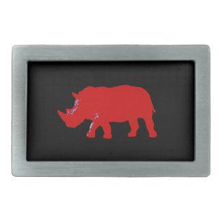 Rhinocéros Boucles De Ceinture Rectangulaires