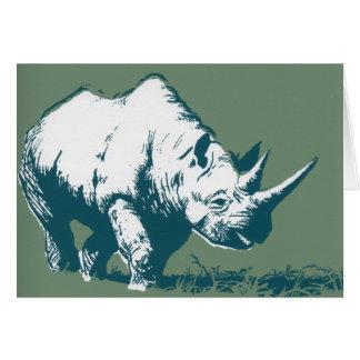 Rhinocéros Carte De Vœux
