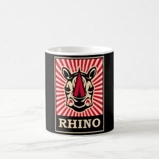 Rhinocéros d art de bruit tasses