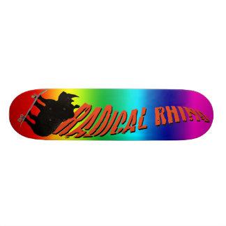 """Rhinocéros d'arc-en-ciel "" Skateboard Old School 18,1 Cm"