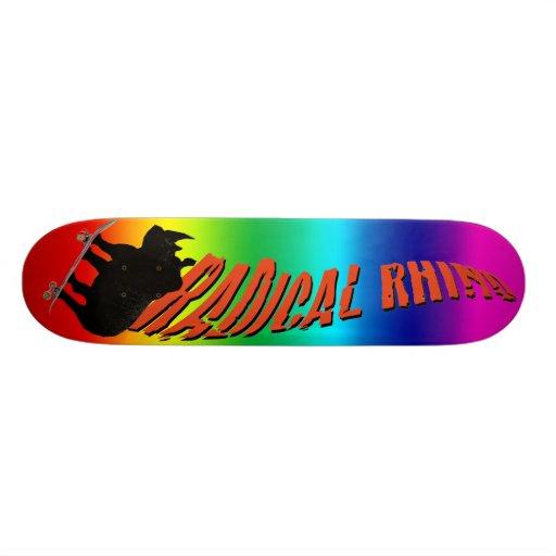 """Rhinocéros d'arc-en-ciel "" Skateboards Personnalisés"