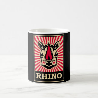 Rhinocéros d'art de bruit mug blanc